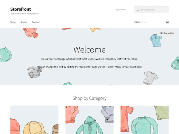 Storefront WordPress sablon