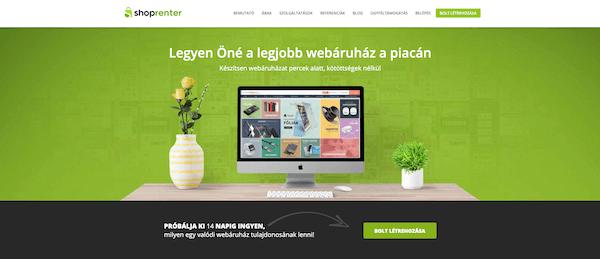 a legjobb bérelhető webáruház